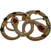 Kenneth Jay Lane for Avon Snake Brooch