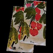 Pair of Vintage Vera Linen Kitchen Towels