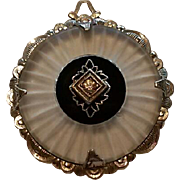 Art Deco Camphor Glass & Sterling Pendant