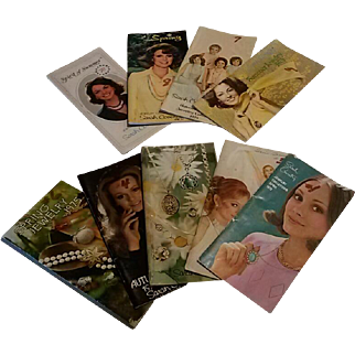 Lot of 9 1970's Sarah Coventry Jewelry Catalogs