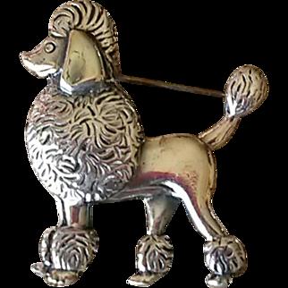 Napier Figural Poodle Dog Brooch