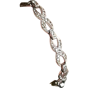 Early Trifari Clear Rhinestone Bracelet Art Deco