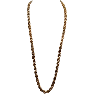 Miriam Haskell 36 inch Rope Chain Necklace