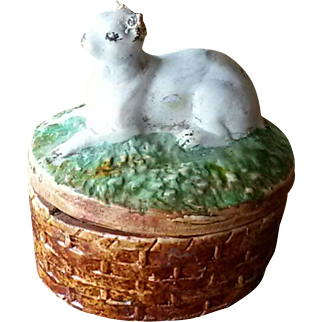 Early Staffordshire Cat Dish