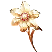 "Vintage Boucher ""Flower of the Month"" Narcissus Pin"
