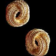 Signed Vintage Christian Dior Rhinestone Earrings
