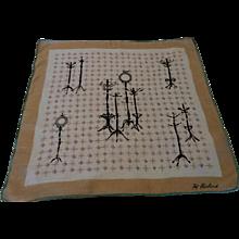 Vintage Pat Prichard Signed Novelty Handkerchief