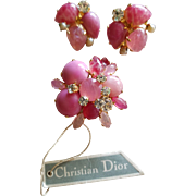 Christian Dior 1966 Germany Brooch & Earrings Set