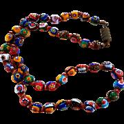 Vintage Italian Millefiore Art Glass Necklace
