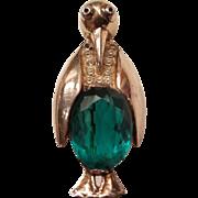 Vintage Mrs. Penguin Figural Rhinestone Pin