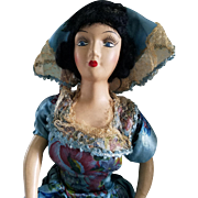 "Composition French Boudoir Doll 30"" 1920s"