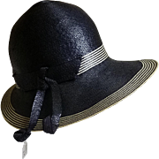 Vintage 1960s Adolfo Realites Cloche Straw Hat