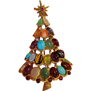Swoboda Gemstone Christmas Tree Pin