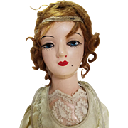 1920s Composition Boudoir Doll 27 inches