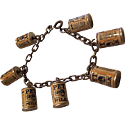 Vintage Pet Milk Can Advertising Charm Bracelet