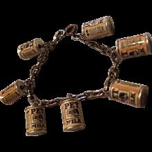 Vintage Pet Milk Can Advertising Charm Bracelet