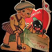 Vintage Black Americana Valentine Card