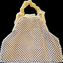 Art Deco Whiting & Davis Co. Alumesh Celluloid & Mesh Hand Bag Purse