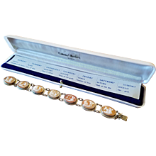 Cameo Seven Days of the Week Bracelet Naples, Italy Souvenir