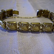 Unusual Victorian Gold Filled Slide Bracelet