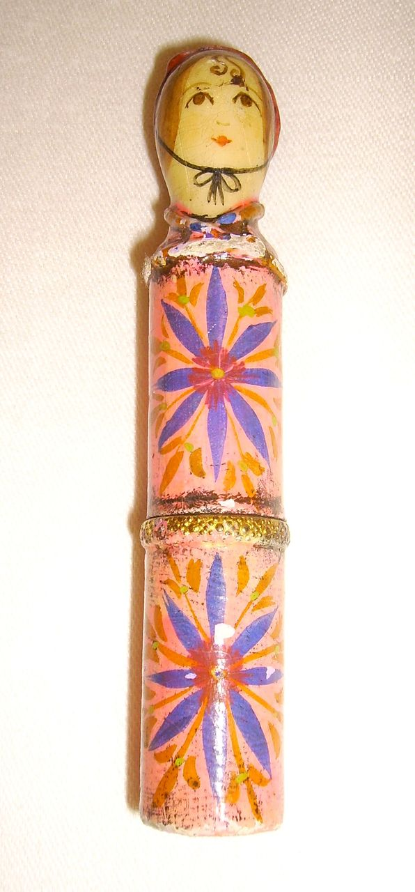 Gemma Taccogna Mexico Paper Mache Lipstick Holder