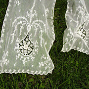 Extra Long Tambour Net Lace Runner or Scarf 12 x 112 Inches