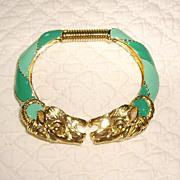 Donald Stannard Ram's Head Bracelet w/ Turquoise Enamel