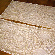 Hand-Made Ivory Normandy Lace Runner