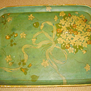 Flora-Lakka Japan Hand Painted Papier Mache Tray