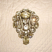 Signed Eisenberg Original Rhinestone Fur or Dress Clip