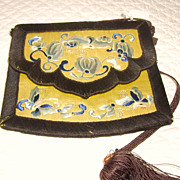 Chinese Silk Embroidered Pouch or Small Purse