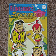 1977 Flintstones 3-Dimensional Puffy Sticker Package