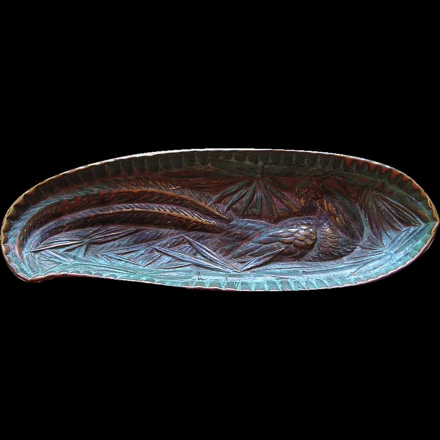 Rare Virginia Metalcrafters Pheasant Dish