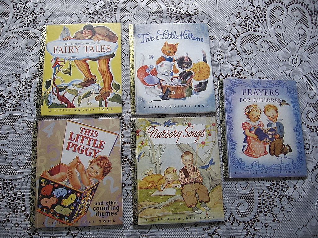Little Golden Book 50th Anniversary Set of Five