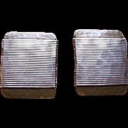 Marjorie Baer Modernist Brass Wire Wrapped Pierce Earrings