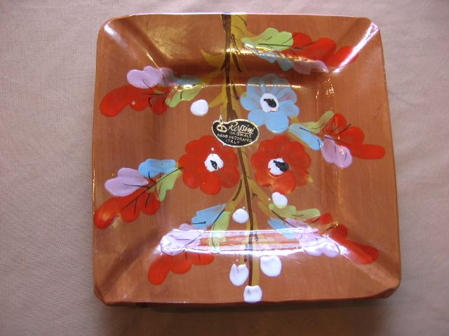 1960's Rossini Originals Italy Pottery Ashtray