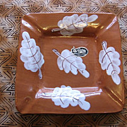 1960's Rossini Originals Italy Leaf Pottery Ashtray