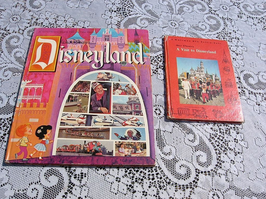 1960's Whitman Tell A Tale Disneyland Children Book Set