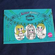 Liddle Kiddles KIDDLE RIDDLE Unused Coloring KOLORING BOOK Mattel 1960s
