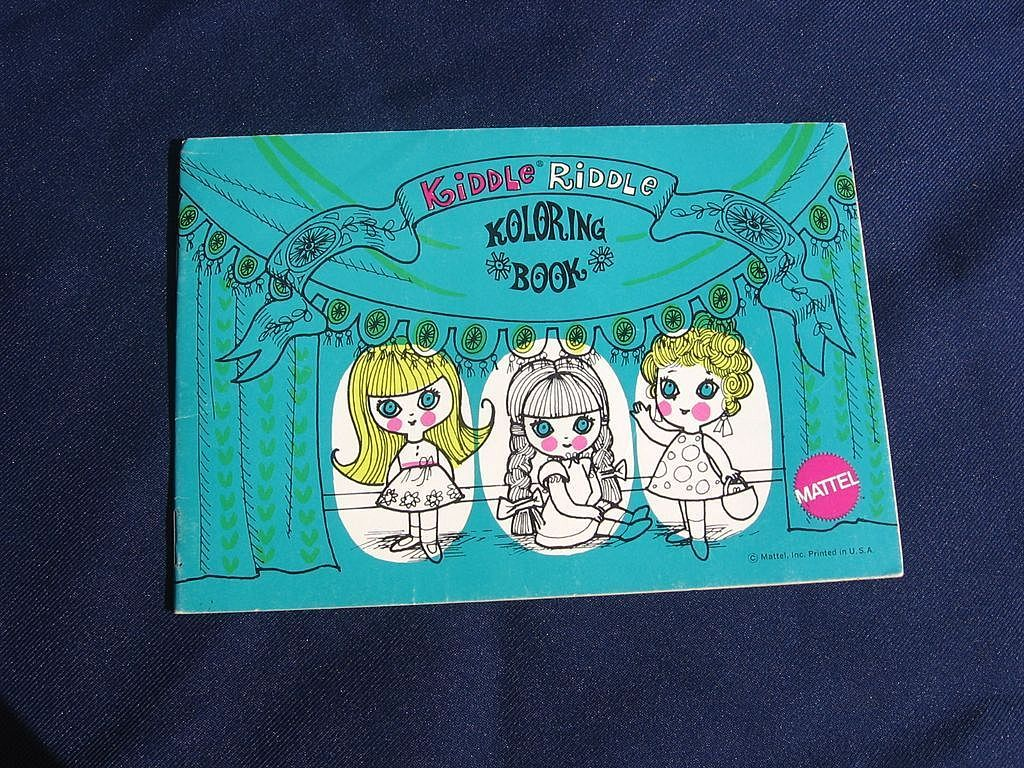 Liddle Kiddles KIDDLE RIDDLE Unused Coloring KOLORING BOOK Mattel 1960s
