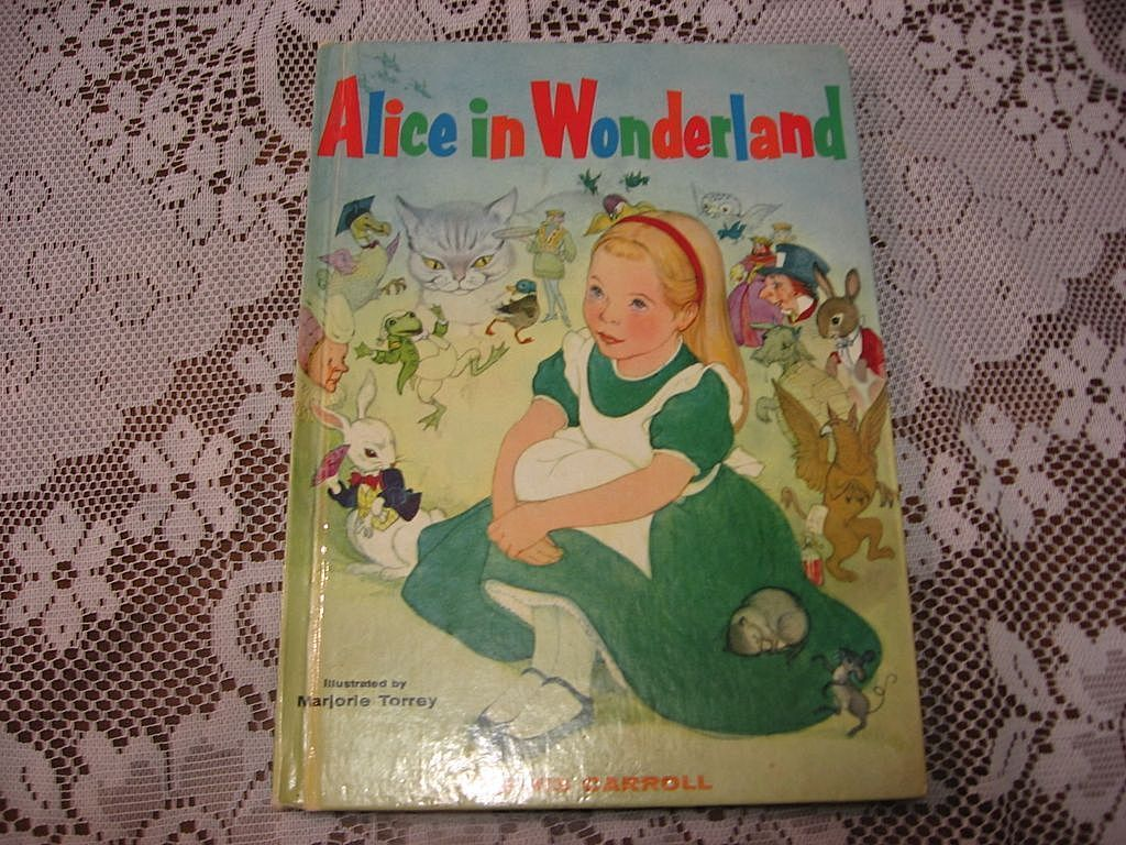 "1955 ""Alice In Wonderland"" Illustrator Majorie Torrey Children Book"