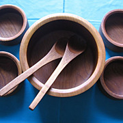 Goodwood Teak Salad Bowl Set
