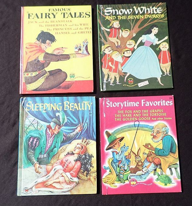 1940's-1950's Children Wonder Book Story Book Set Of Four