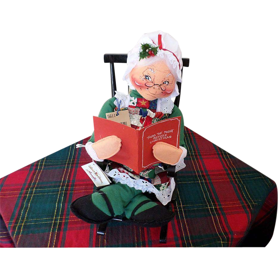 """Large """"Tis the Night Before Christmas"""" Annalee Doll"""