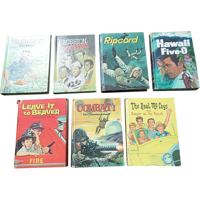 Whitman 1960's Television Juvenile Book Set Of Eight Books