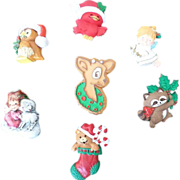 Hallmark Christmas Pin Lot 2