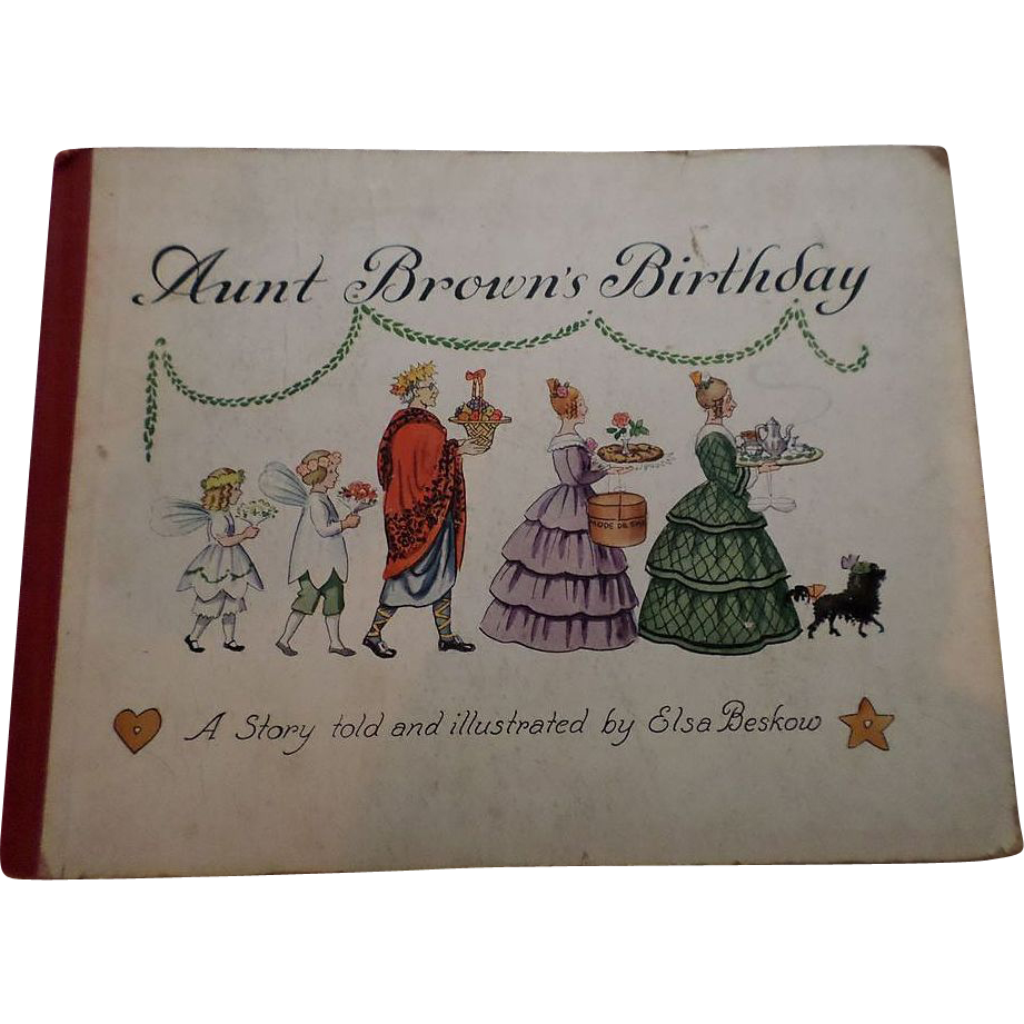 "Rare 1930 ""Aunt Brown's Birthday"" First Edition Children Book"