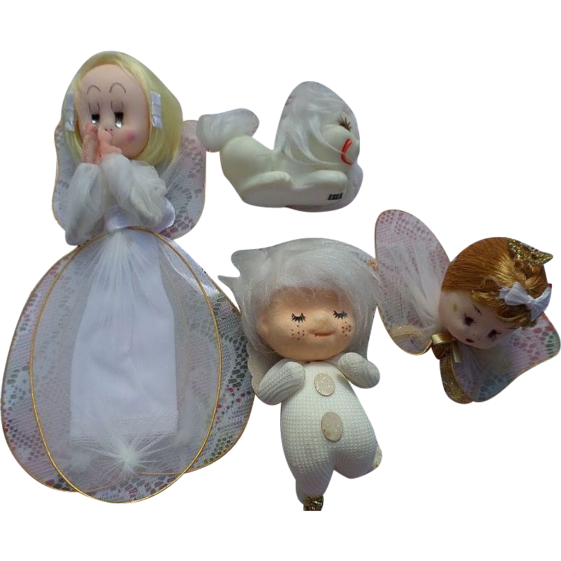 Vintage Japan Angel Ornament Set