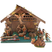 Italy Nativity Set With Manger