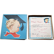 Rare 1940's Unused Charlot Byj Whipper Snappers Greeting Card Set Of 13